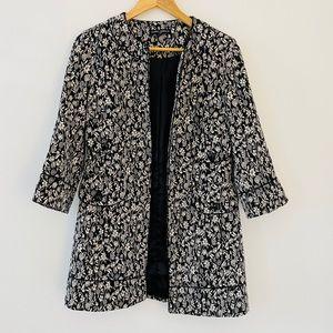 MARIO SERRANI Spring Black & White Coat Blazer